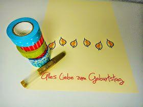 Ines Felix - Kreatives zum Nachmachen: Geburtstagskarte mit Masking-Tape Kerzen