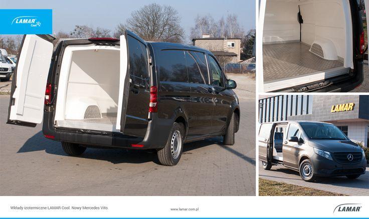 Wkłady izotermiczne LAMAR Cool już dostępne w nowym Mercedes - Benz Vito!  #LAMAR Cool #Vito, Więcej na temat wkładów izotermiczych LAMAR Cool znajdziesz na http://lamar.com.pl/oferta/wklady-lamarcool/