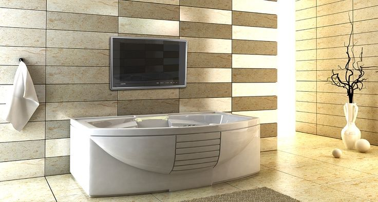 ROCCIA supply this product line: Luxurite. Bathroom television TV.