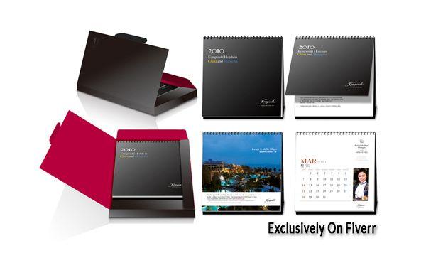 create custom calendar print or web by naleen123