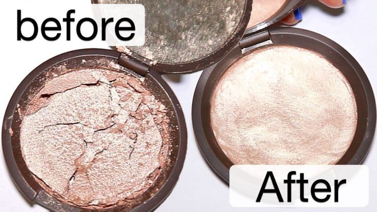 Broken powder can spell the end for your favourite shades - but there is a simple way to fix it.