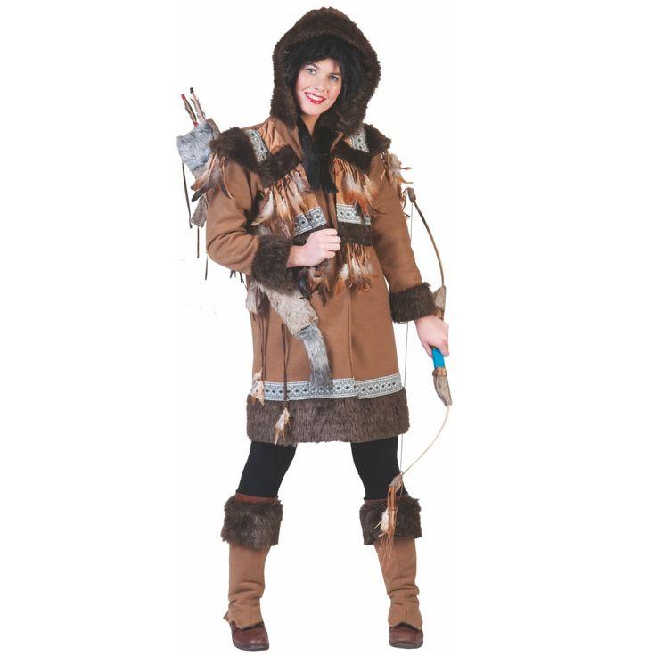 Damen Eskimo Kostüm
