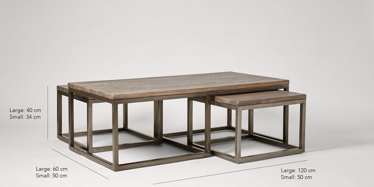 Swoon Editions Coffee table set, Industrial style in mango wood - £279