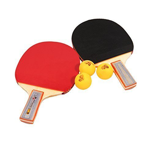Malin® Table Tennis Ping Pong Bat Paddle Blade Penhold Short Handle Two Sides Pips In Rubber Loop Attack