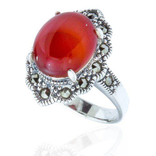 925 Oxidized Sterling Silver Swarovski Marcasite Red Agat... https://www.amazon.com/dp/B00I2WJRJS/ref=cm_sw_r_pi_dp_x_CM9cybS63JXD5