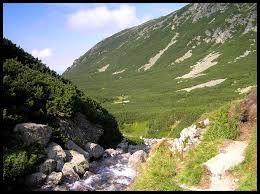 Tatry lato w górach, szlak
