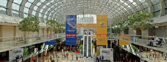 Messe Düsseldorf. / Duesseldorf fair ground and trade fair dates.    © Düsseldorf Marketing & Tourismus GmbH