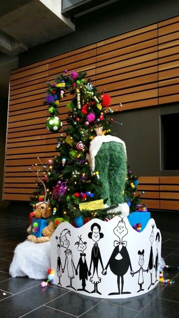 Best Christmas tree EVER: Dr. Suess Christmas in Who-ville /How the Grinch stole Christmas tree. Decorated by Archangel Fireworks in Winnipeg.