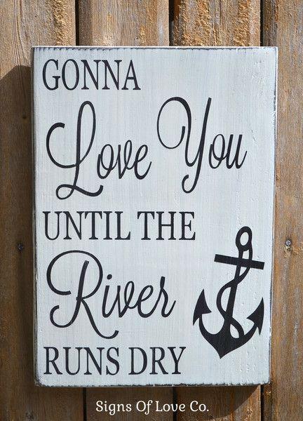 River House Lake Anchor Decor Wedding Couples Gift