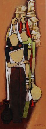 In my village I      30cm x 50cm       Acrylic on Canvas