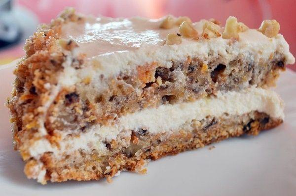 Морковный торт с орехами – самый лучший рецепт