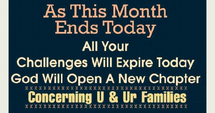As This Month Ends Today....  All your challenges will expire