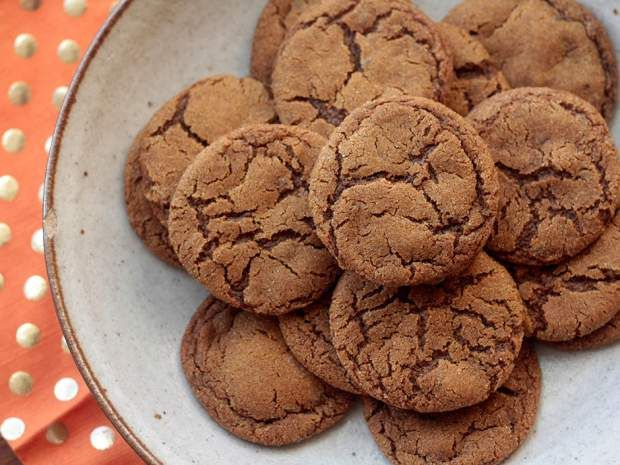 Ground ginger and diced candied ginger add lots of oomph to this cookie recipe.