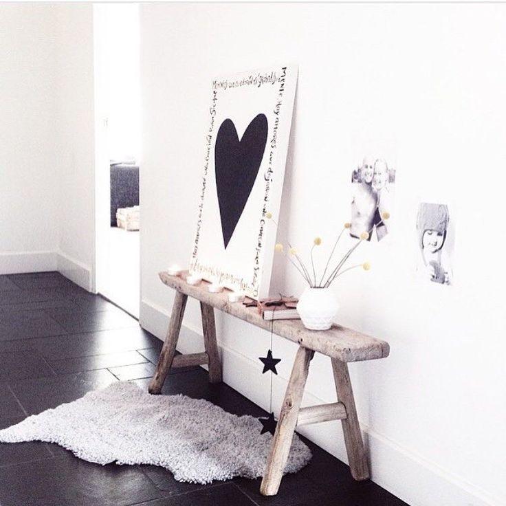 zelf canvas maken met hart en teksten erom
