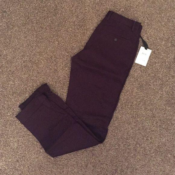 Men's dark purple dress pants Never worn, tags still attached men's Reiss dark purple slim fit dress pants Pants Trousers