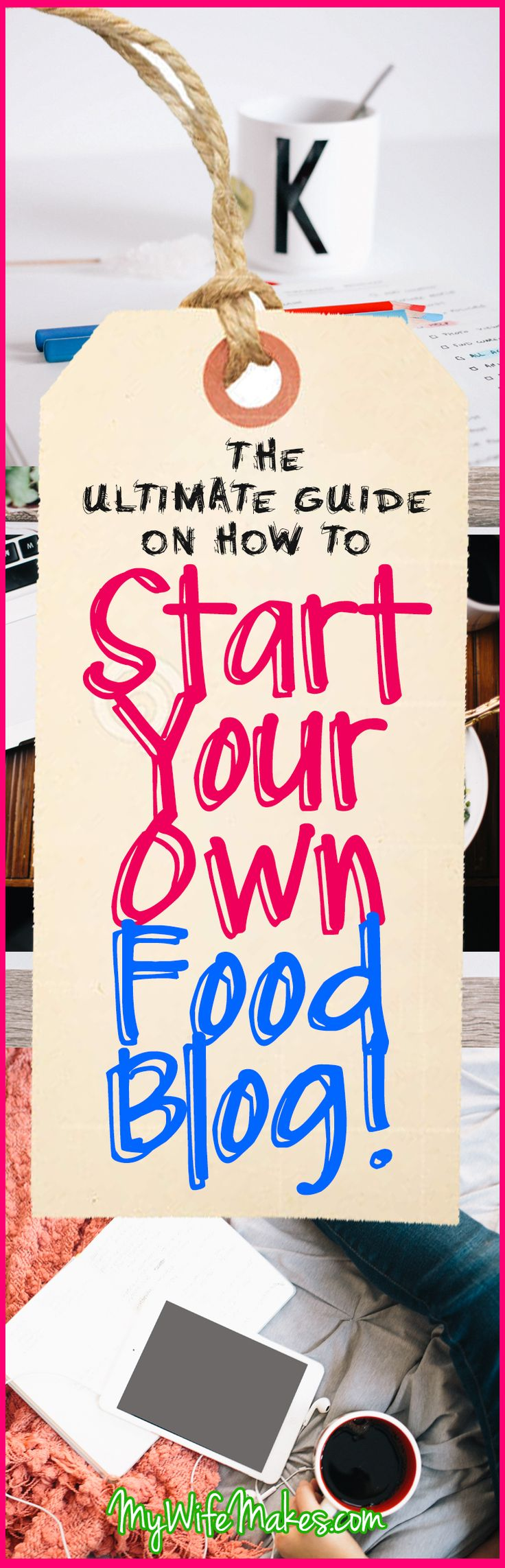 How to Start A Food Blog: The Ultimate 3-Step Guide to help you get started on your food blogging adventures! Blogging tips.