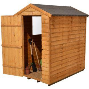 buy forest garden overlap apex wooden garden shed 6 x 4ft at argosco