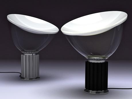 L mpara de mesa de luz indirecta taccia de flos dise ada - Luz indirecta ...