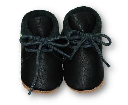 mokasynki CZERŃ Leather Baby Shoes Moccassins Black https://fiorino.eu/