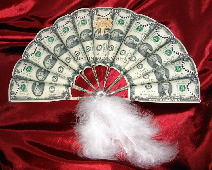 Handmade Money Fan: This fan will catch everyone's attention and will sure be the Bride's favorite gift on her wedding or engagement.  Also can be made by using any denomination of Bills. Make your selection. For price and ordering please text, message or call Margarita @ 818-903-2202.