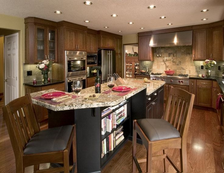 Small Classic Kitchen Islands with Seating Ideas