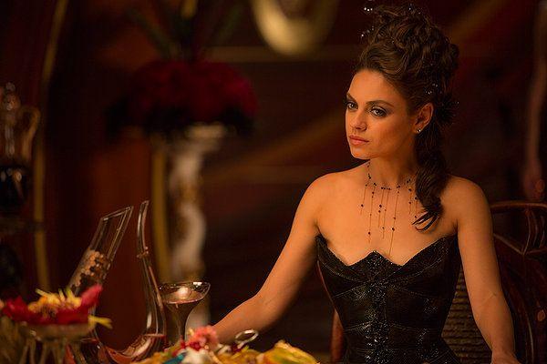 Love this necklace! Mila Kunis in Jupiter Acending