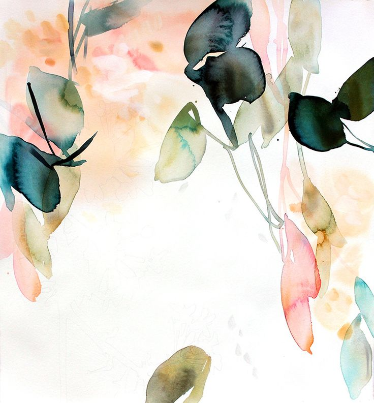 Quiet Call 4 | From a unique collection of abstract drawings and watercolors at https://www.1stdibs.com/art/drawings-watercolor-paintings/abstract-drawings-watercolors/