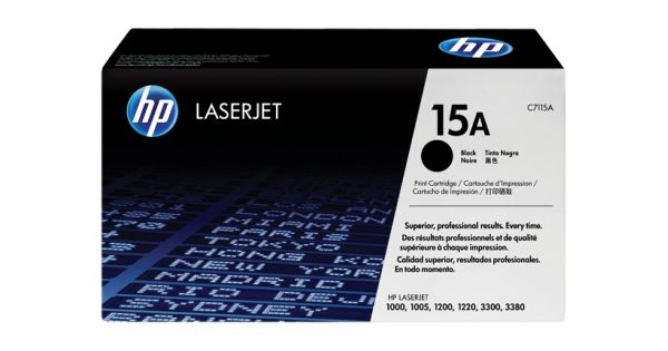 Cartus laser HP C7115AProdus: Cartus TonerCategorie: ORIGINALTehnologie: LaserProducator: HPCod produs: C7115ACuloare: NegruCapacitate: 2500 pagini (5% incarcare\draft)Pret: 270 lei cu TVACost\pagina: 0,10800 lei
