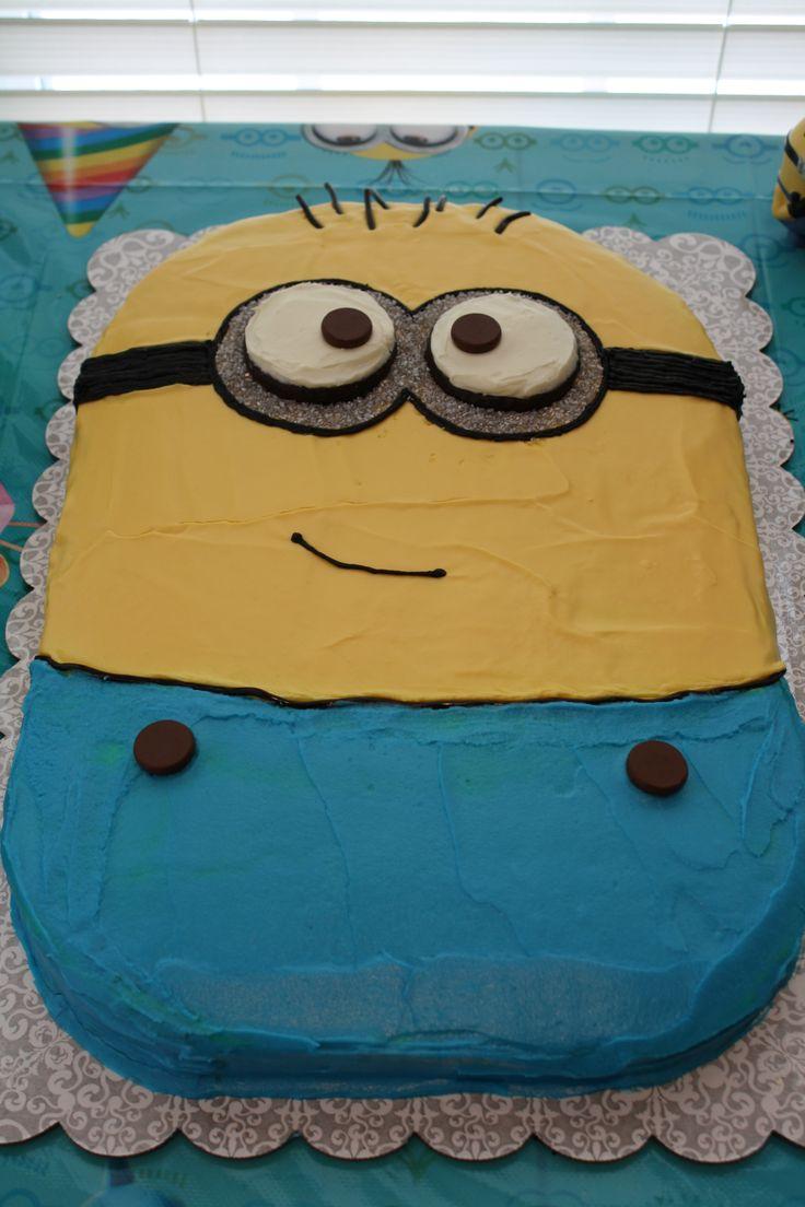 Minion birthday cake.
