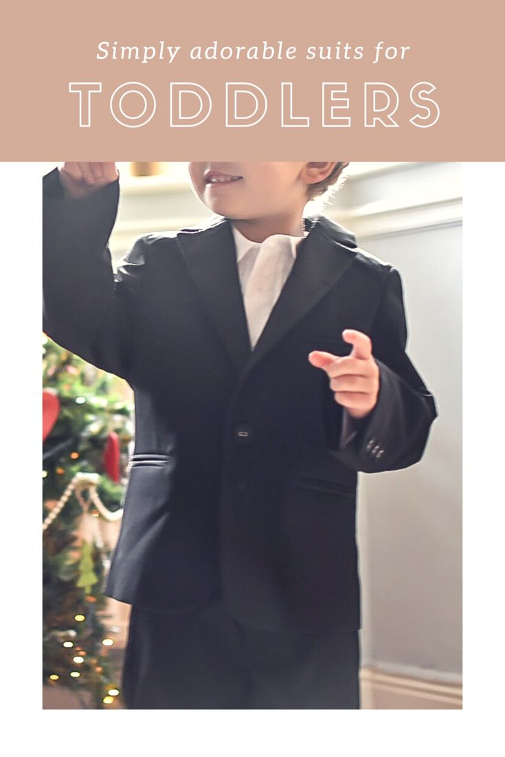 We've got a big family wedding coming up and I've found the most perfect tuxedo for my toddler, there actually some really cute little boys suits out there