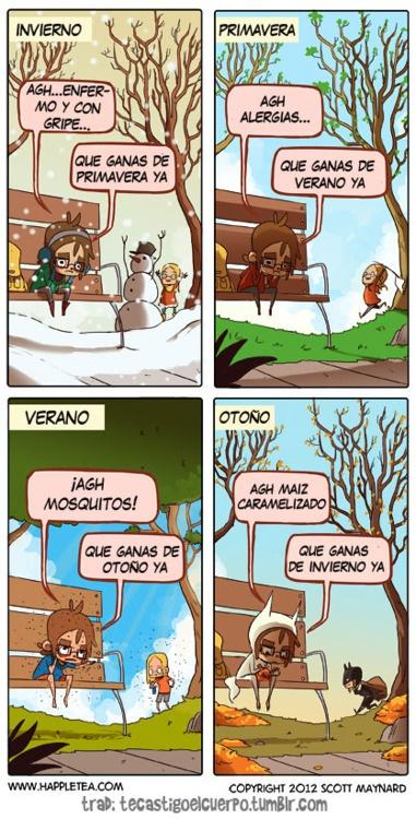 seasons weather doctor, así somos todos en cada época del año!!