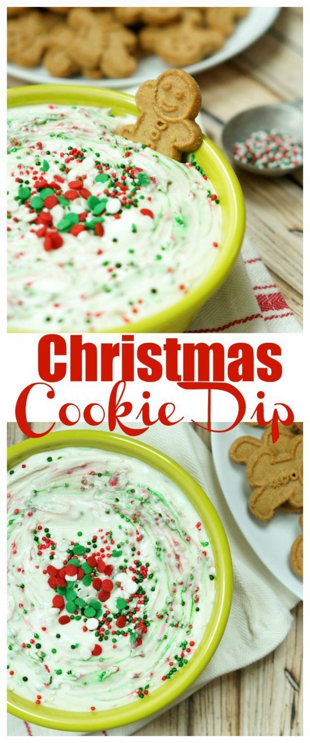 Easy and Delicious Christmas Cookie Dip. Such a great Christmas appetizer recipe idea!