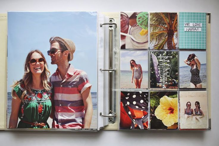 Scrapbooking with mostly photos - not so many embellishments. What a concept! via A Beautiful Mess blog