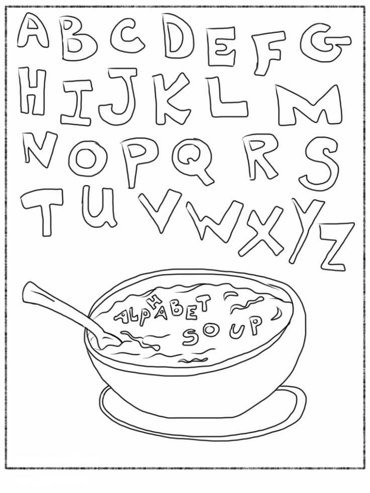 Trains Alphabet With Food Coloring Pages For Kids Printable