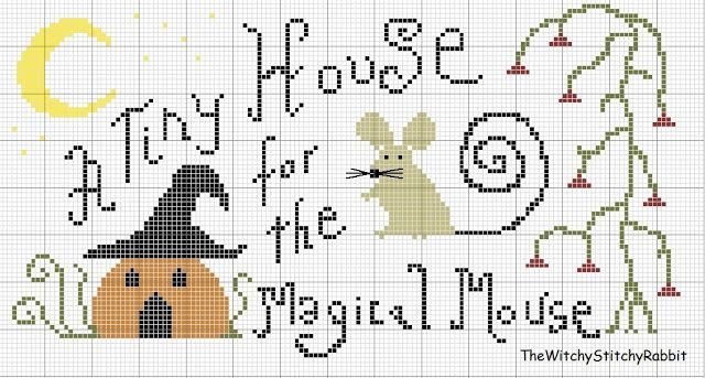 Halloween Cross Stitch Freebie TheDustyRabbit