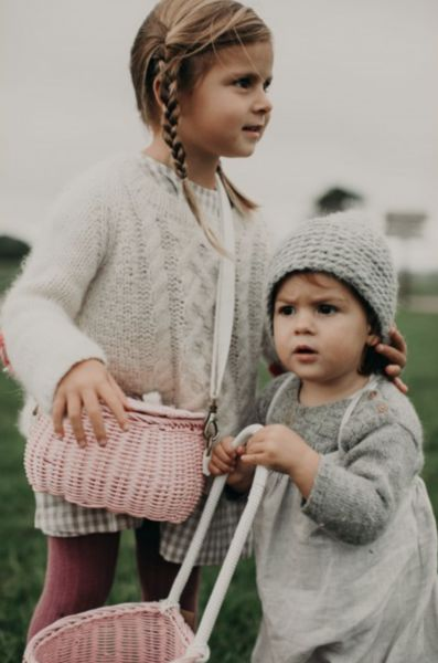 The Minichari by Olli Ella. An immediate favourite for so many reasons! A bike basket, a scooter basket, a treasure bag, a little handbag - this little woven ba