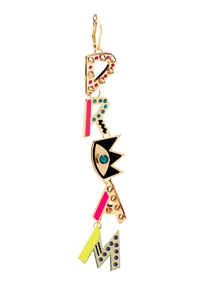 Maria Francesca Pepe Dream drop single earring Shop now> https://www.mariafrancescapepe.com/showplarge.aspx?prodid=770&catid=47&utm_source=Social&utm_medium=Pinterest&utm_campaign=Fw14_dropearing_dream