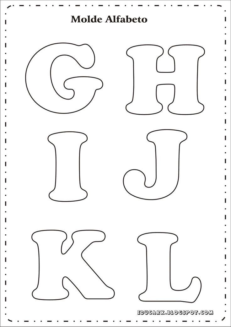 Modelo de letras para cartaz g h i j k l                                                                                                                                                                                 Mais
