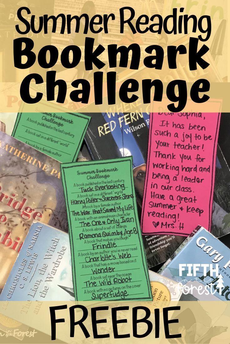 Summer Reading Bookmark Challenge