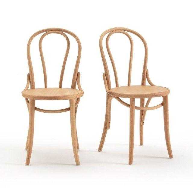 Chaise Style Bistrot Lot De 2 Troket Chaise Chaise Osier Chaises Bois