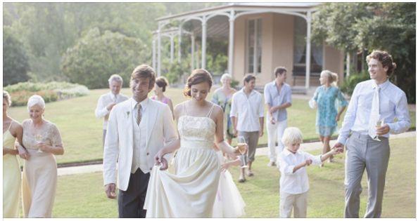 Laid back pastel wedding
