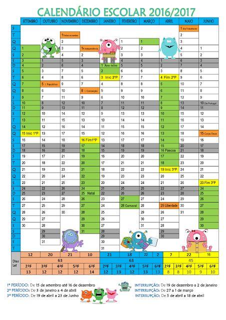 Cantinho do Primeiro Ciclo: Calendário com tema dos monstrinhos…