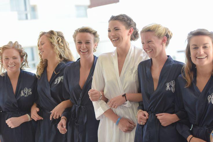 Bridesmaids monogrammed robes