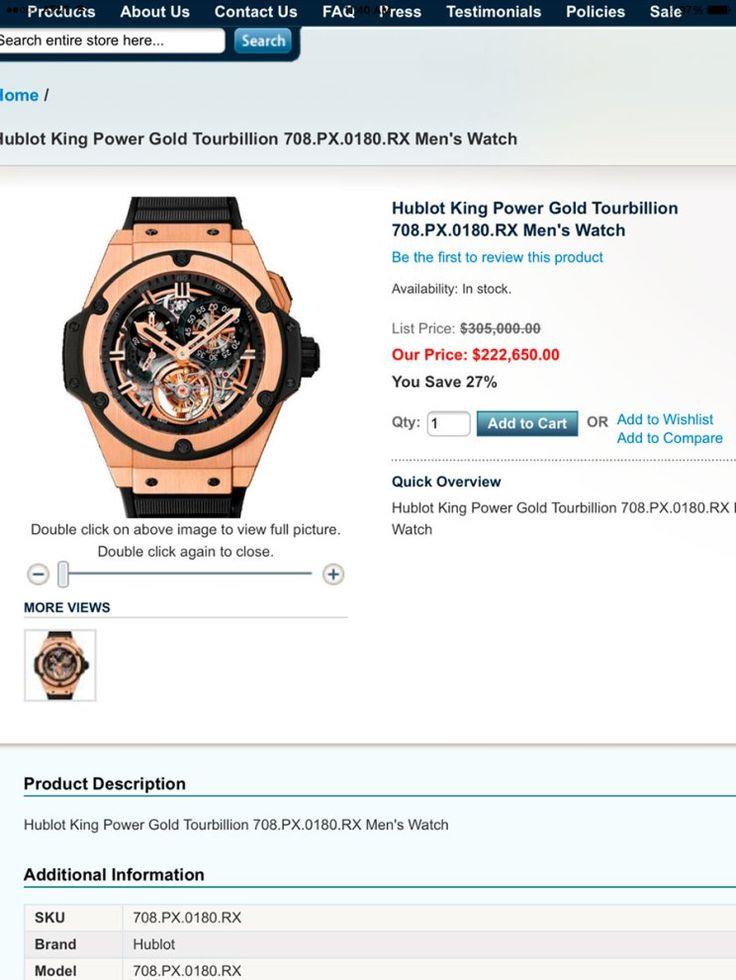 El reloj Hublot King Power Gold Torubillon en su precio con descuento. Foto: Especial