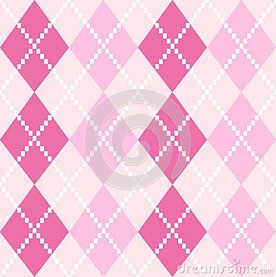 Argyle pattern in pink shades. Vector background