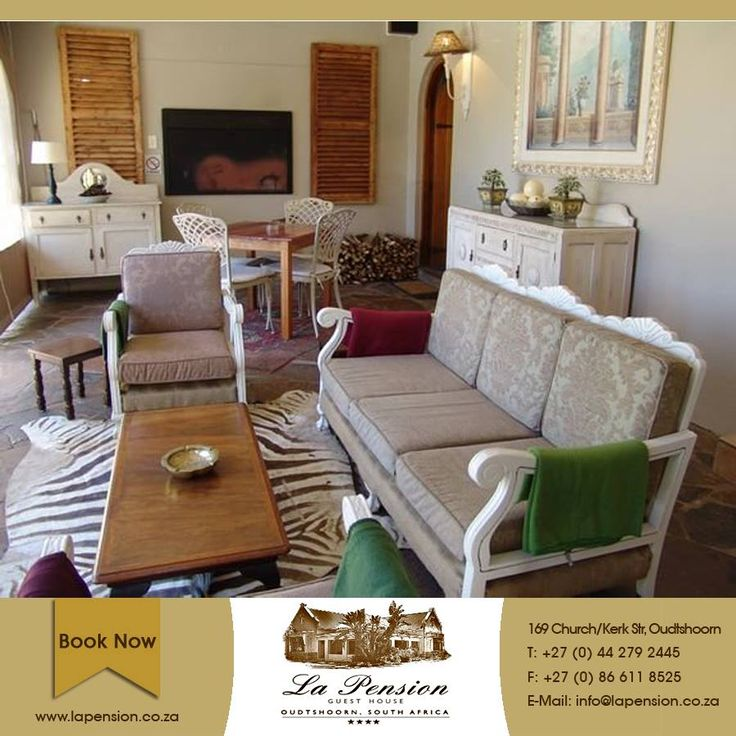 When you're done exploring the myriad of Oudtshoorn sights and activities, the comfort of La Pension awaits you for a well-deserved rest #karoo #comfort #lifestyle #accommodation