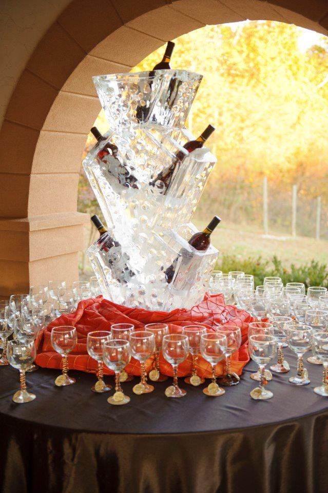 Wedding Ice Sculpture For Wine Bar