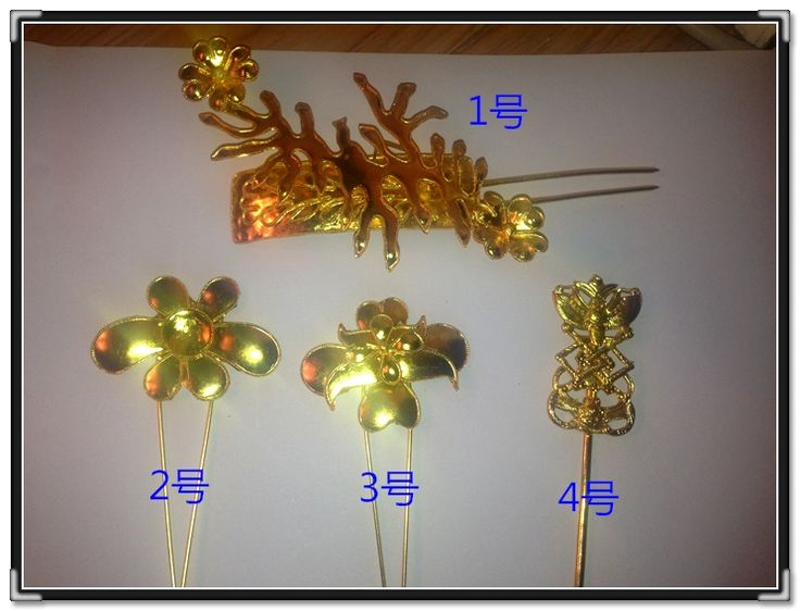 >> Click to Buy << 4pcs Set Wu Mei Niang Fully Handmade Antique Pinach Artwork  Tang  Princess Gold Plated Hair Sticks Hair Accessory Set #Affiliate
