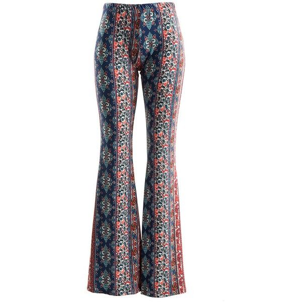 Fashionomics Womens BOHO COMFY STRETCHY BELL BOTTOM FLARE PANTS ($35) ❤ liked on Polyvore featuring pants, bell bottom stretch pants, flare bell bottom pants, stretch pants, white stretch pants and boho flare pants