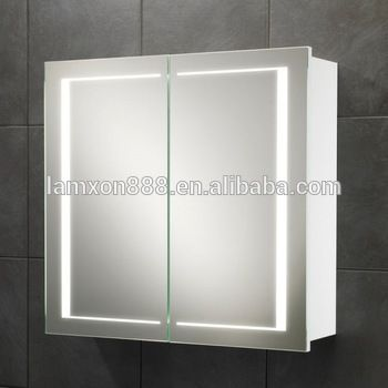 New Style Wall Mount Medicine Cabinet With Double Sided Mirror Door Led Lighted